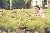 Picking flowers — Stock Photo