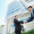Asian businessmen shaking their hands — Stock Photo #50348299