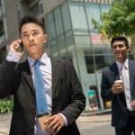 Businessman talking on the phone — Stock Photo #50348379