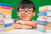 Smiling schoolboy — Stock Photo