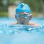 Man swimming butterfly stroke — Stock Photo #50359147