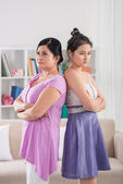 Offended mother and daughter — Stock Photo