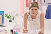 Jovem designer de moda — Foto Stock