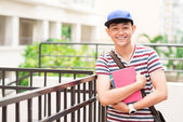 Cheerful Vietnamese student — Stock Photo