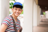 Smiling Asian student — Stock Photo