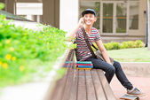 Joyful male student — Stock Photo