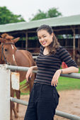 Cheerful cowgirl — Stock Photo
