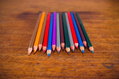 Color pencils on the table — Stock Photo