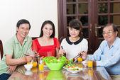 Vietnamese family dinning — Stock Photo