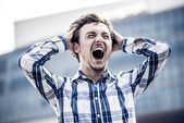 Man shouting with despair — Stock Photo