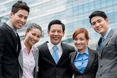 Vietnamese business team — Stock Photo