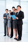 Group of Vietnamese managers — Stock Photo