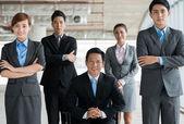 Confident Vietnamese business team — Stock Photo