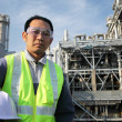 Stock Photo: Engineer oil refinery