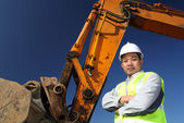 Operator of a excavator — Stock Photo