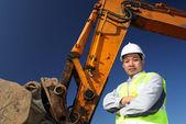 Operator of a excavator — Stock Photo