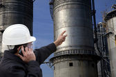 Petrochemical plant engineer — Stock Photo