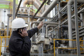 Oil refinery engineer — Stock Photo