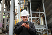 Engineer oil refinery — Stock Photo