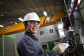 Asian male industrial mechanic — Stock Photo