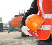 Concetto di sicurezza edilizia — Foto Stock
