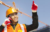 Site manager under construction — Stock Photo