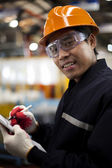 Engineer in factory — Stock Photo