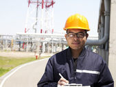 Chemical industrial engineer — Stock Photo