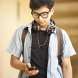 College student with mobile phone — Stock Photo #30898509