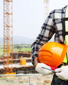 Vertical image construction safety concept — Stock Photo