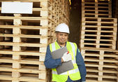Carpenter standing — Stock Photo