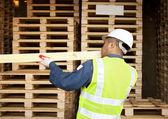 Carpenter on working — Stock Photo