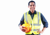 Portrait asian engineer — Foto Stock