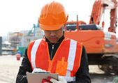 Builder engineer at work — Stock Photo