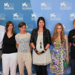 Laura De Boer, Alex Schmidt and Mina Tander pose with movie's cast for photographers at 69th Venice Film Festival on September 8, 2012 in Venice, Italy. - Stock Photo