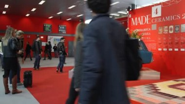 International home furnishing and accessories exhibition — Stock Video