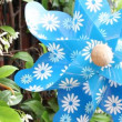 Stock Video: Blue pinwheel