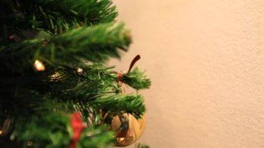 Christmas tree lights background — Stock Video