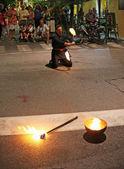 Street performer — Stock Photo
