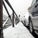 Cars frozen on the street — Stock Photo #38491519