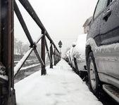 Cars frozen on the street — Stock Photo