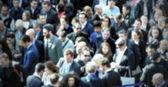 Blurred people — Stock Photo