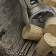 Stock Photo: Corks on table