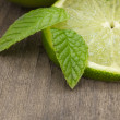 Lime and mint - Stock Photo
