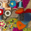 Sewing items — Foto Stock