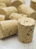 Corks on the table — Stock Photo