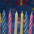 Birtday candles — Stock Photo
