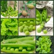 Peas and other green vegetable — Stock Photo