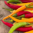 Fresh chili peppers — Stock Photo