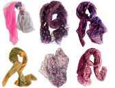Collection of scarfs — Foto de Stock